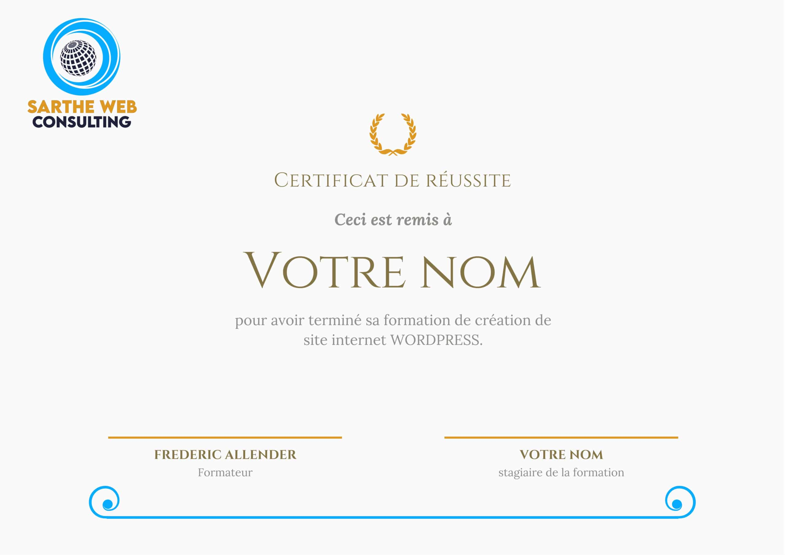 Formation site internet wordpress en Sarthe avec Sarthewebconsulting